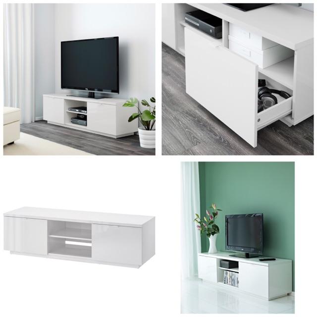 Ikea Byas Tv Cabinet 160x42x45cm White Shopee Malaysia