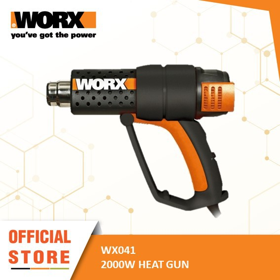 2000W ELECTRIC HEAT GUN HOT AIR NOZZLE VARIABLE TEMPERATURE POWER CORDED UK