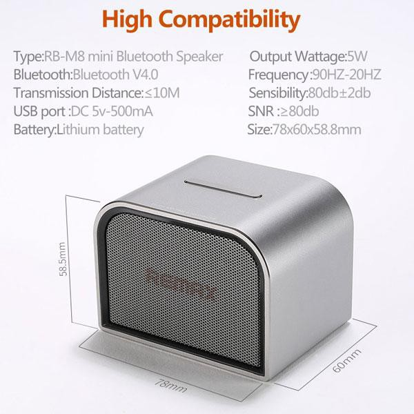 Top Quality Remax RB-M8 Mini Portable Bluetooth Wireless Speakers [Clearance]