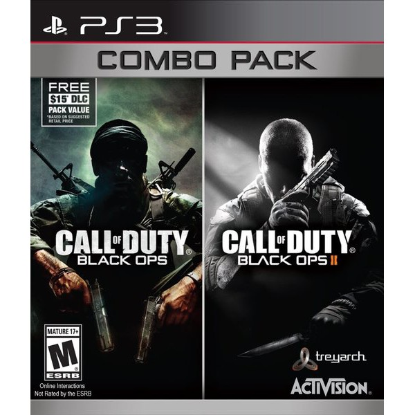 (NEW/Disc) Call of Duty Black Ops Combo Pack PS3 Game COD 1 , 2
