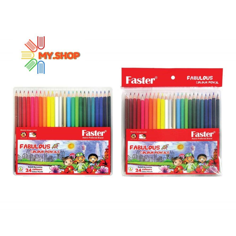 Faster CP-F-724 Fabulous Colour Pencils 3.0mm Lead (24 Colours/Set)