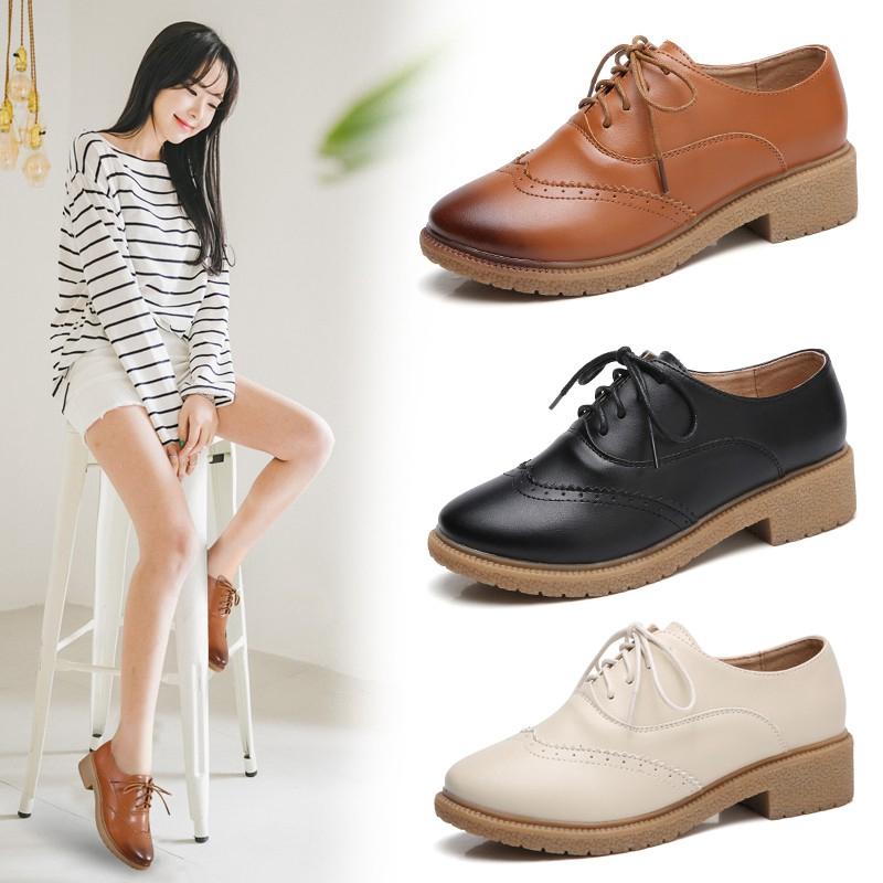 4098d06d57 Oxfords & Brogues Online Deals - Flats | Women's Shoes | Shopee Malaysia