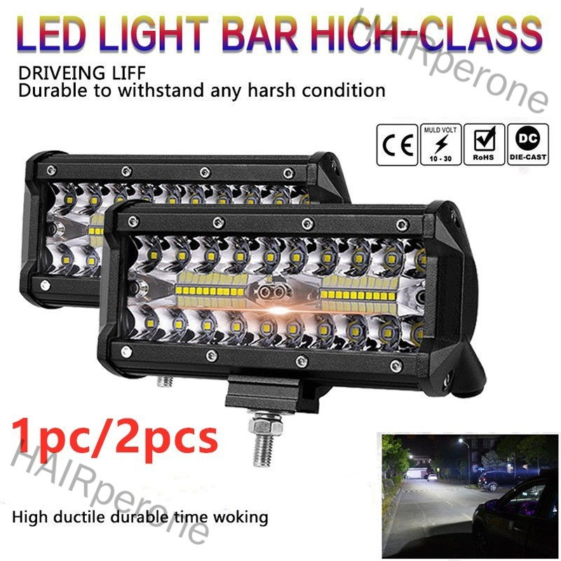 HAIRperone 7 inch 400W LED Work Light Bar Flood Spot Beam Offroad 4WD SUV Driving Fog Lamp
