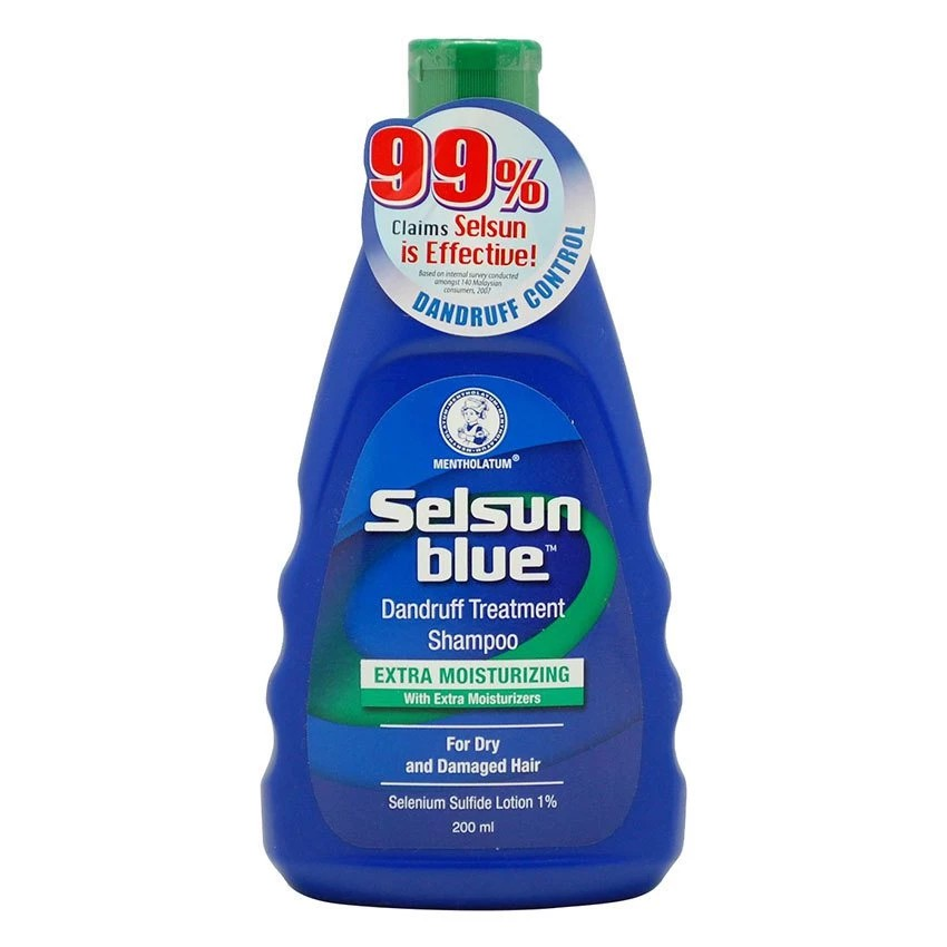 Selsun Blue Extra Moisturizing Shampoo Kelumumur Dandruff Treatment 200ml