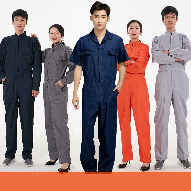 Unisex One-piece Boilersuit Jumpsuit Long Sleeves Dust-proof Coveralls Hot New