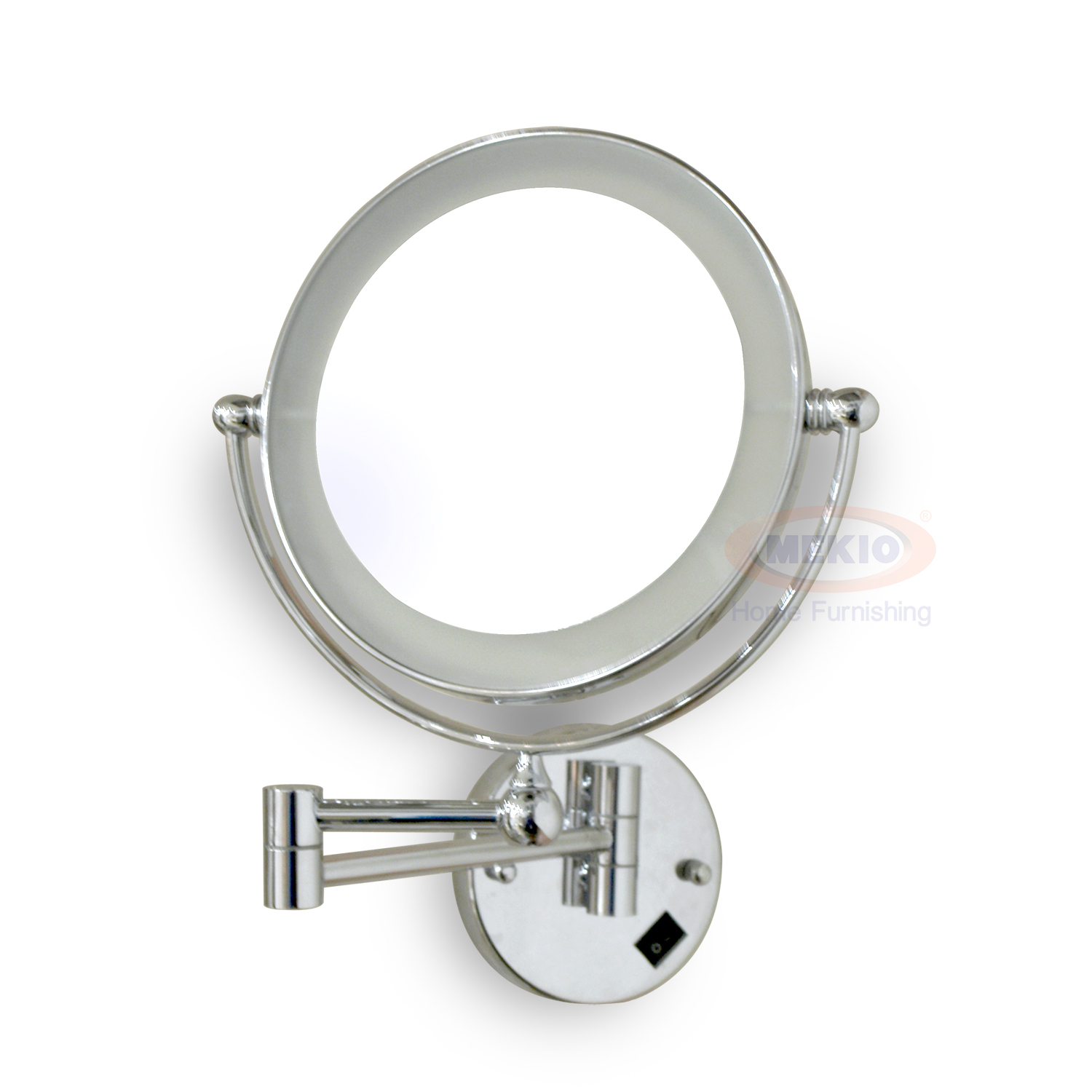 Wall make up mirror with light 8in