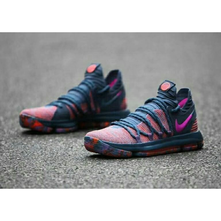 huge discount 3b4e5 5055a Original NIKE AIR JORDAN KD 10 male sports basketball shoes kasual colorful  sneakers