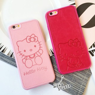 4523b173a Hello Kitty PU Leather Case Cover For iPhone 5 5s 5se 6 6s 6plus 6s plus  7plus | Shopee Malaysia
