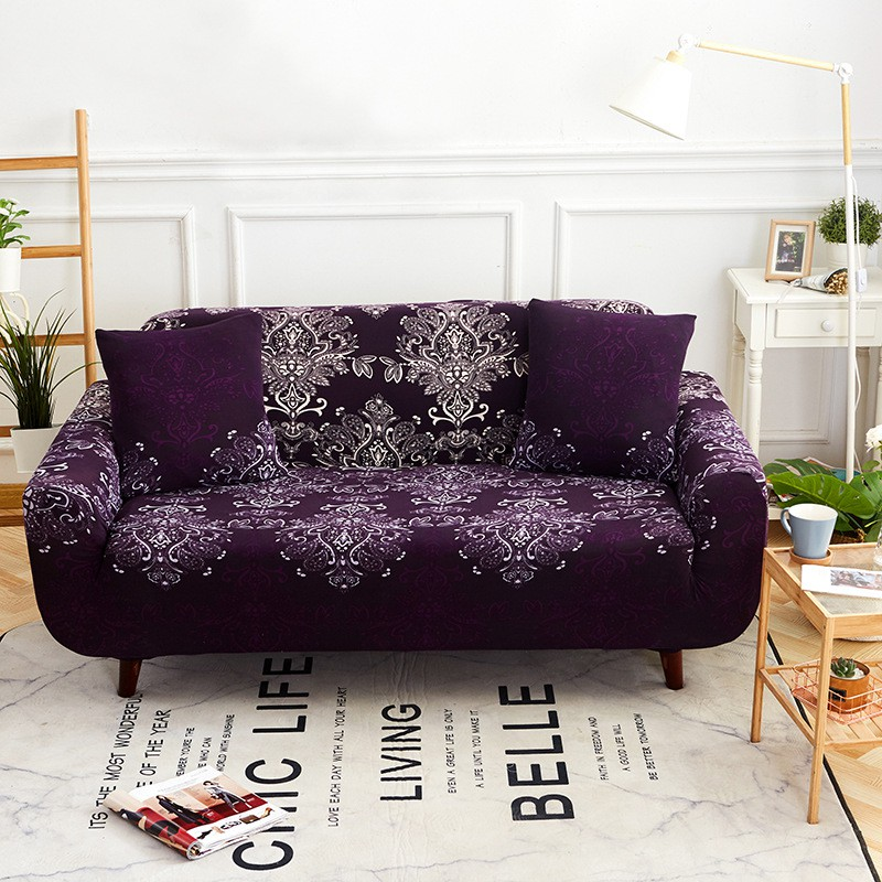 Sofa cover Sarung sofa Sofa Sheet, Mousse Pattern Dark Purple ZY