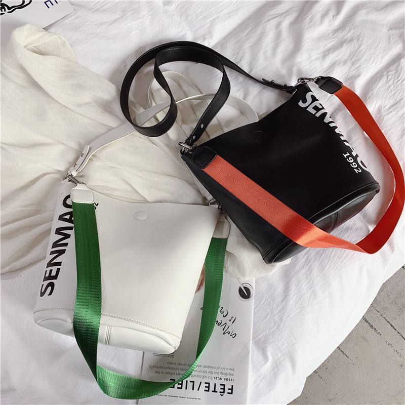 5e0e2945992b ❤️SUPER SALE 2IN1🔥character Women fashion PU Leather Messenger Bag Girl  Sling Bag bucket bag Shoulder Bag Crossbody Beg