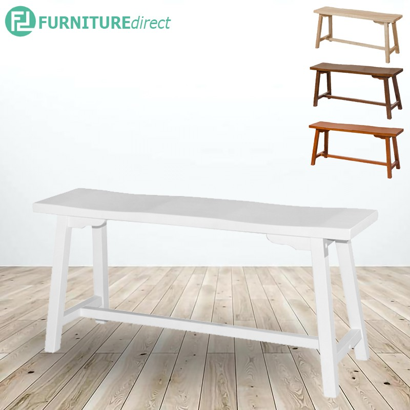 MELODY full solid wood long bench- 4 colors