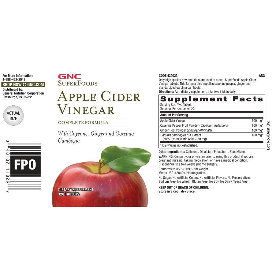 America Gnc Apple Cider Vinegar 955g Shopee Malaysia