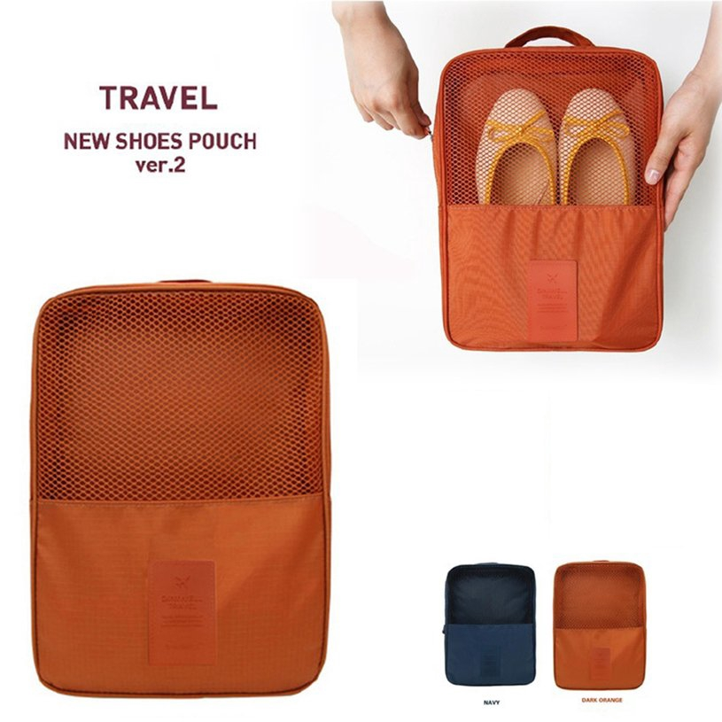 d22124b002f2 ♬☂Waterproof Shoes Storage Bag Organizer Oxford Cloth Nylon Zipper for  Travel♪