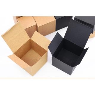Diy Kraft Paper Box Cardboard Box Packaging Brown 8cmx8cmx6cm