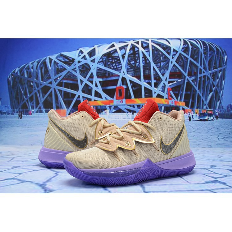 promo code 4abd7 26aff Nike Kyrie 5 EP Kyle Irving 5 Purple yellow Sports Men's bas