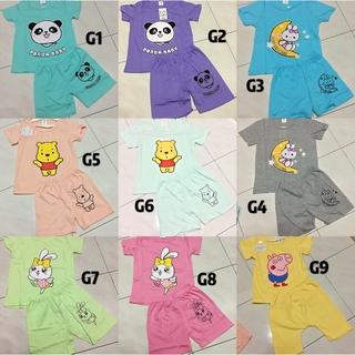 15bcea74665f5 Ready Stock Summer Baby Boys Girls Cartoon Print T-Shirt Tops+Shorts Sets |  Shopee Malaysia