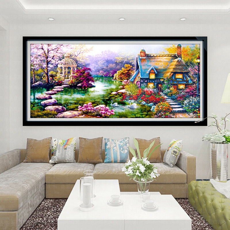 Facc Large 5d Diamond Painting Embroidery Stitch Kit Craft Art Hoom Living Room Decor Shopee Malaysia