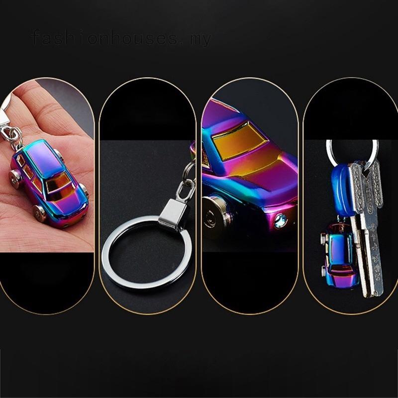 139c00a8cb 1PC Car Keychain Best Gift Men Metal High Quality Keychain Key Holder Zinc  Alloy Pendant Couple LED Light Key Chain