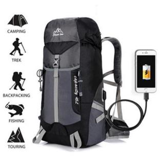 a86b46276995 Outdoor Folding Waterproof USB Charging Travel Backpack Sports ...