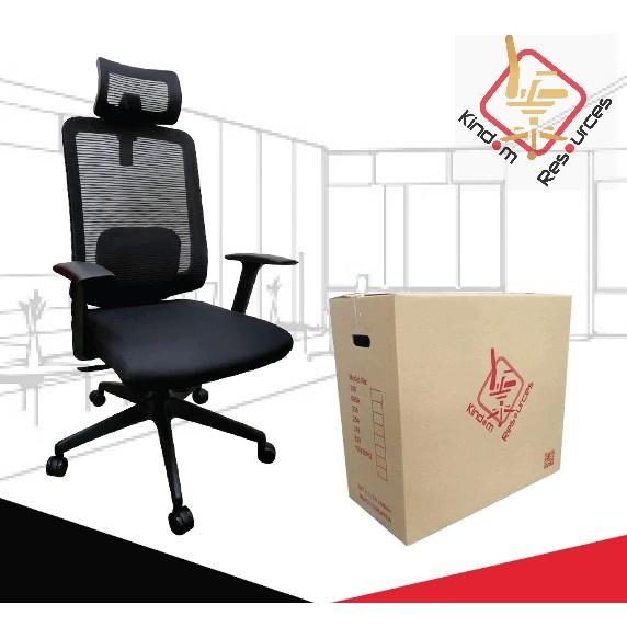 Office Chair Executive (FREE PILLOW) 3 Locking Mechanism Tilt Lock Nylon Leg Heavy Duty