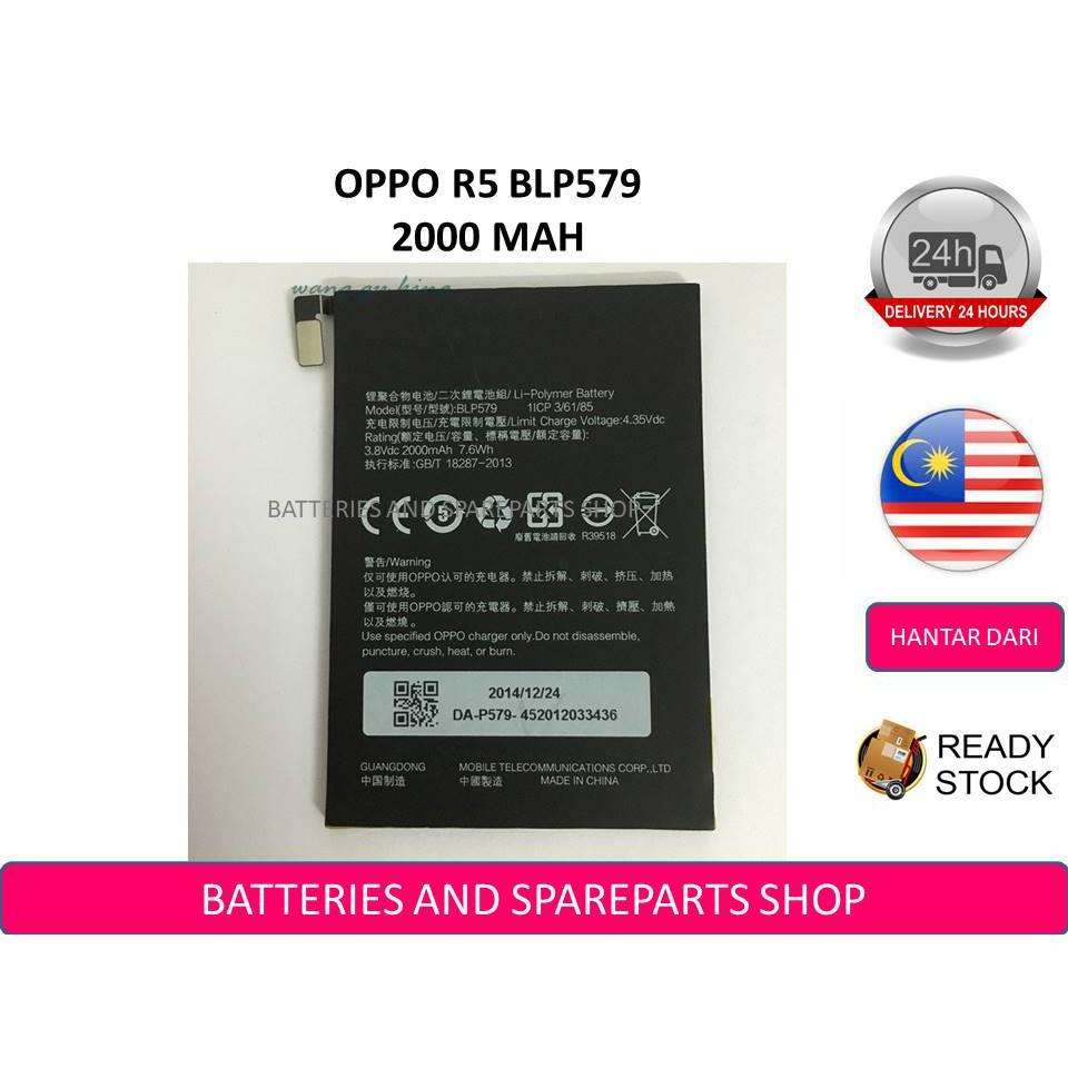 BSS Oppo R5 R8106 BLP579 Battery Sparepart Repair 2000 mAh