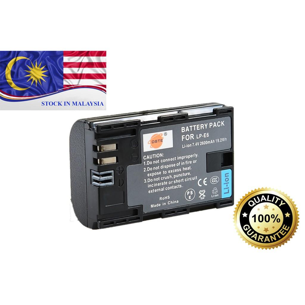 DSTE LP-E6 LPE6 Battery for Canon EOS 60D, 70D, 7D, 6D, 70D,5D Mark (Ready Stock In Malaysia)