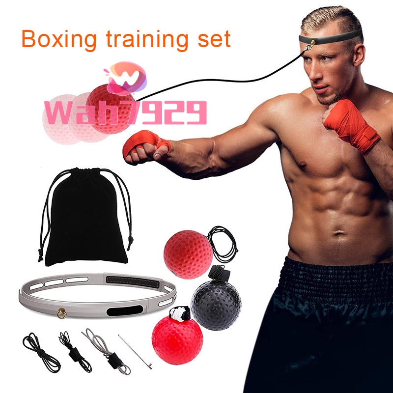 Boxing Reflex Fight Punch Ball Head Band Gym Equipment Fitness Training Using US