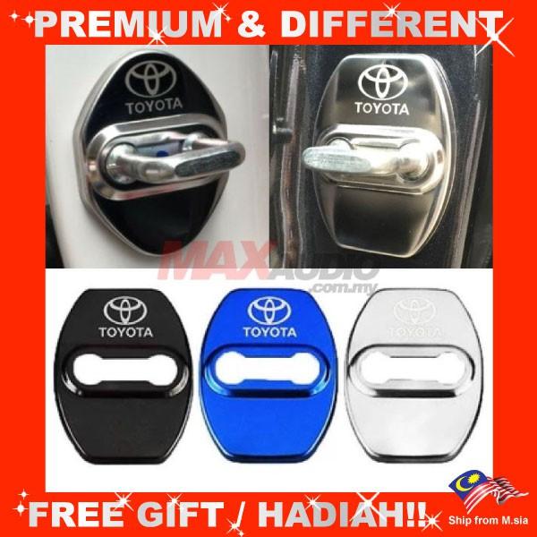 TOYOTA VIOS YARIS ALTIS CAMRY HILUX CHR Premium Chrome Alloy Door Lock Protection Cover (4pcs/Set)