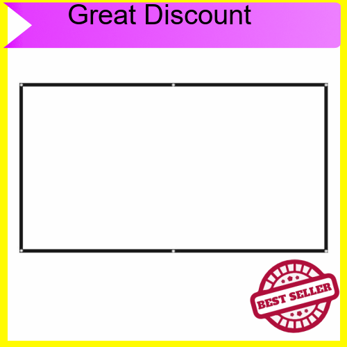 Great Discount 100 inches Projector Screen Widescreen 16:9 Portable Projection Screen Anti-Crease Foldable Indoor Outdo