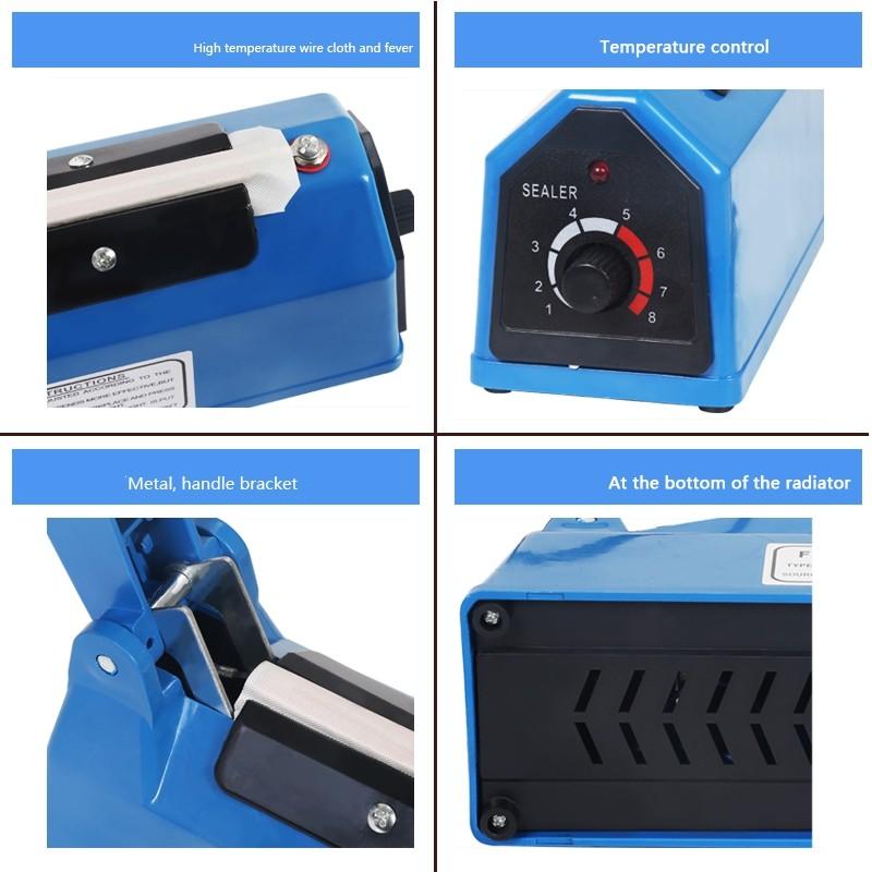 200mm Impulse Sealing Machine Sealer Film Heat Pe Pp Plastic Poly Bag Sealer Kitchen Easy Seal Packaging Packing Mesin L
