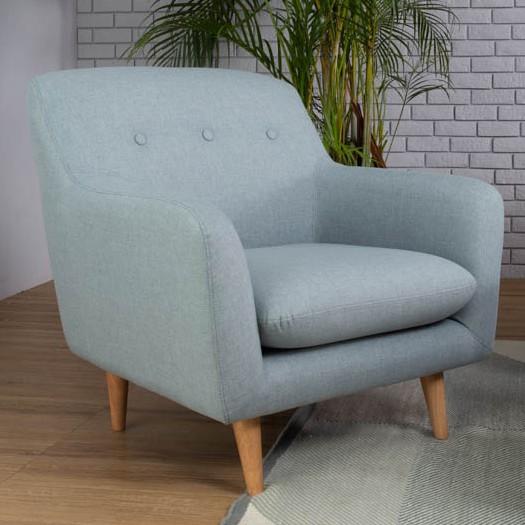 SPORTAGE 1 seater fabric sofa-light blue