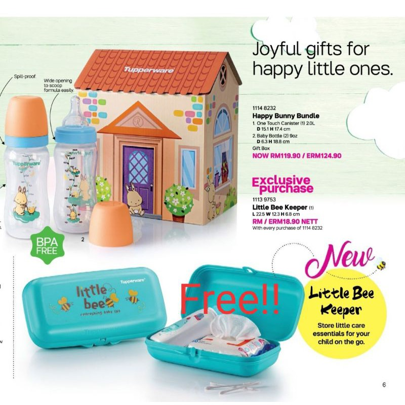 Tupperware Happy Bunny Bundle with FREE LITTLE BEE KEEPER!
