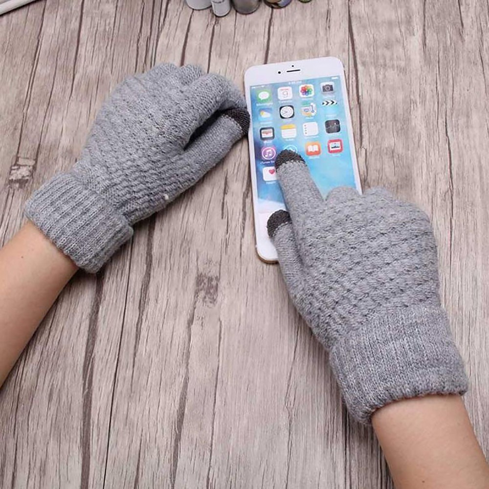 Apparel Accessories Winter Women Knitted Thermal Gloves Knitted Outdoor Touch Screen Gloves Full Finger Female Crochet Mitt Unicorn Embroider Glove