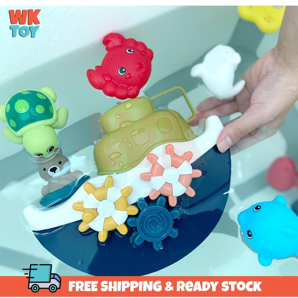 WKTOY Baby Bathing Ship Bathroom Toy Bath Boat Toy for Toddlers