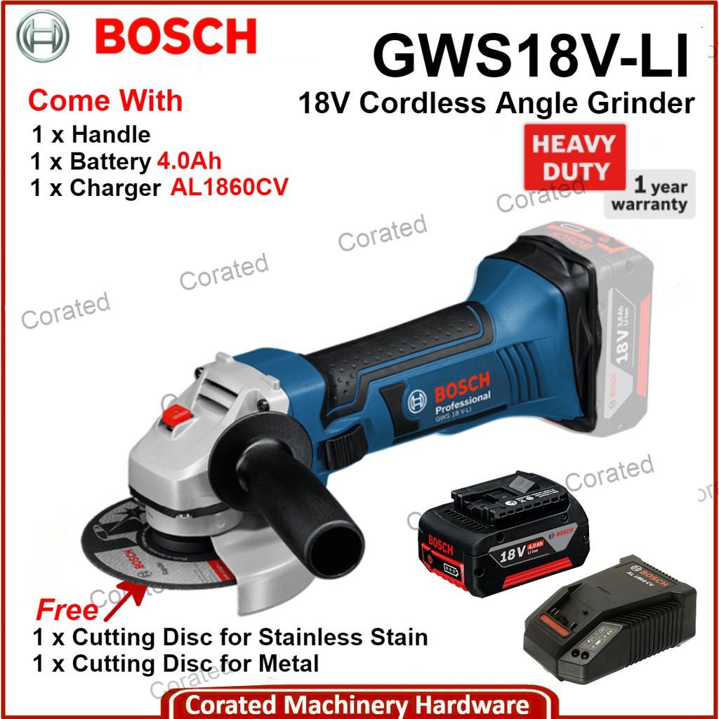 Bosch GWS 18 V-LI 18 Volt Professional Cordless Angle Grinder