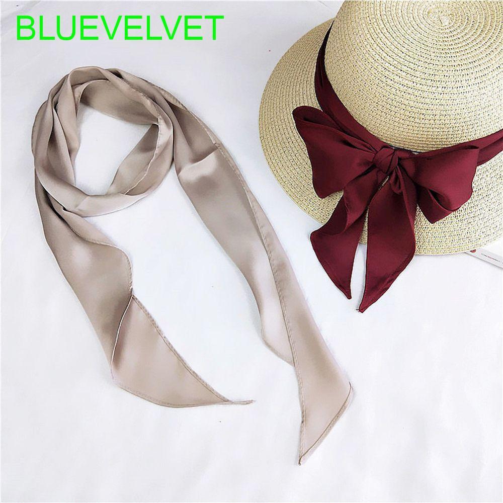 Sun Flower Yellow Silk Twilly Scarf Long Hair Ribbon Handbag purse handle Wrap
