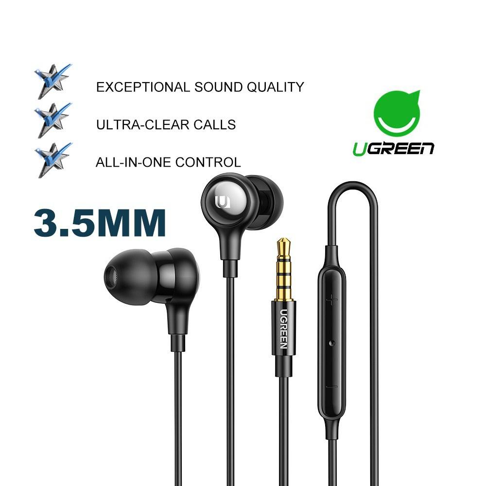 UGREEN Hi-tune Type C DAC 3.5MM Audio Jack Earbuds with Microphone Volume Control Sony Xperia Samsung S21 Xiaomi POCO X3