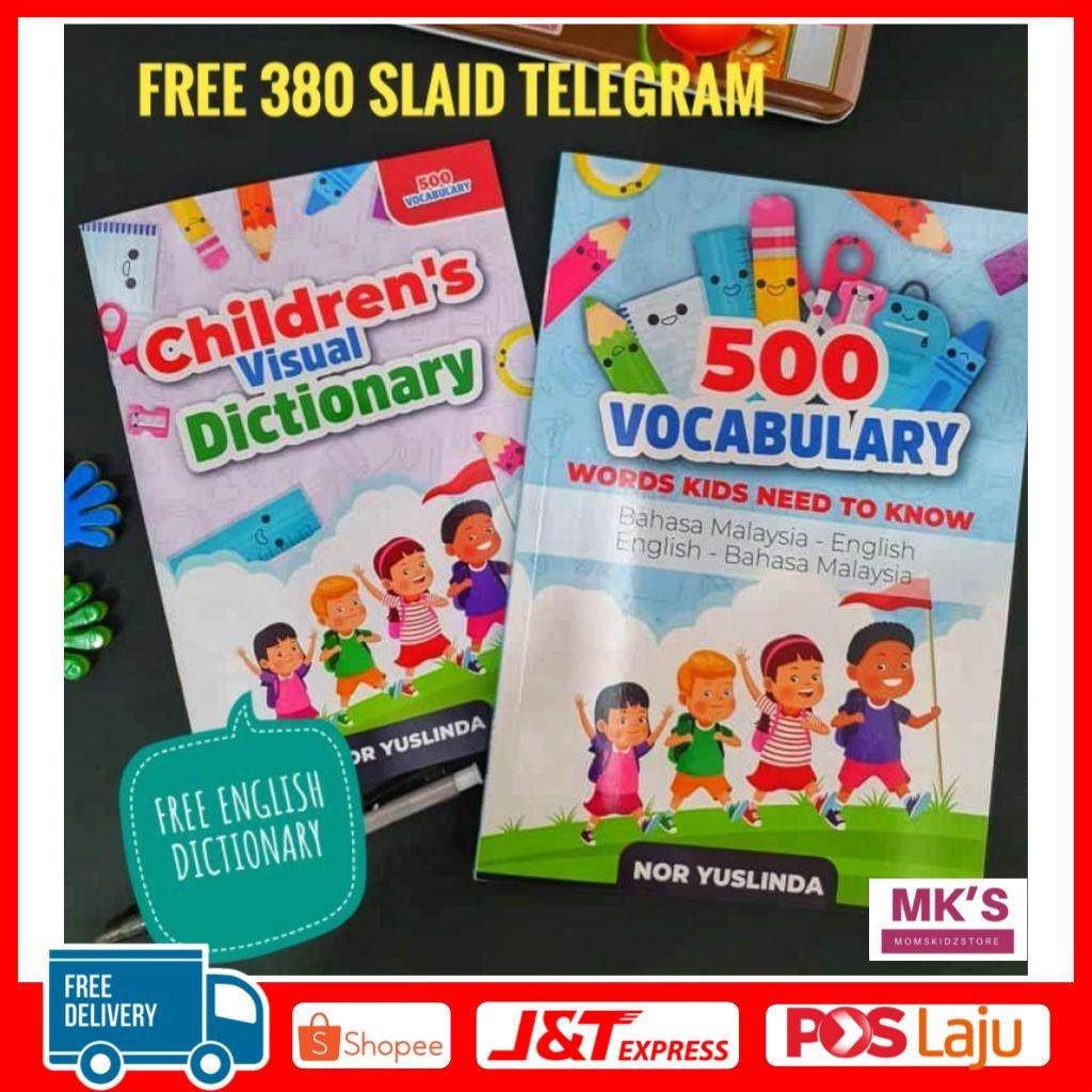 500 Vocabulary BM BI + Free Book Dictionary + Free Slaid