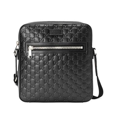 4ef73b61 Gucci Men's GG Classic Embossed Logo Crossbody Bag - Black