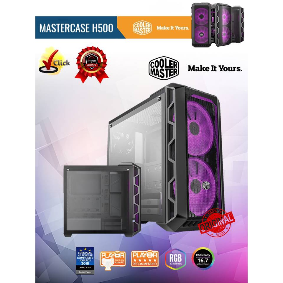 Cooler Master MasterCase H500 ATX HAF Mid Tower Chassis (MCM-H500-IGNN-S00)