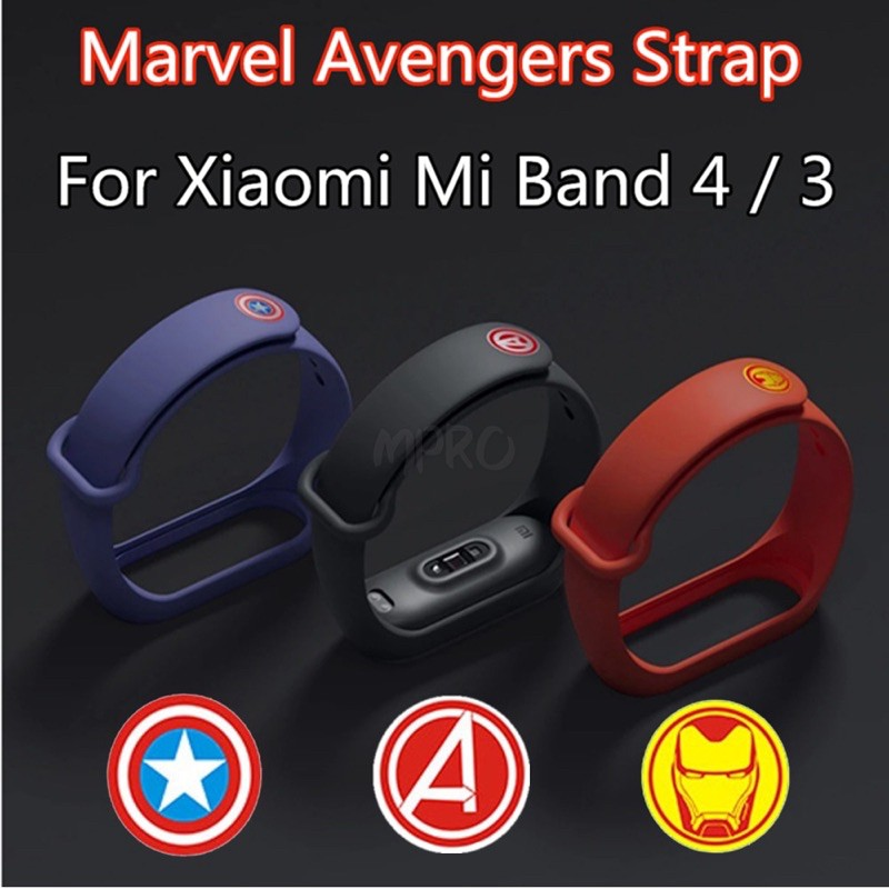 [Ready Stock] Xiaomi Mi Band 5 & Mi Band 4 / 3 Limited Editions Avengers Strap