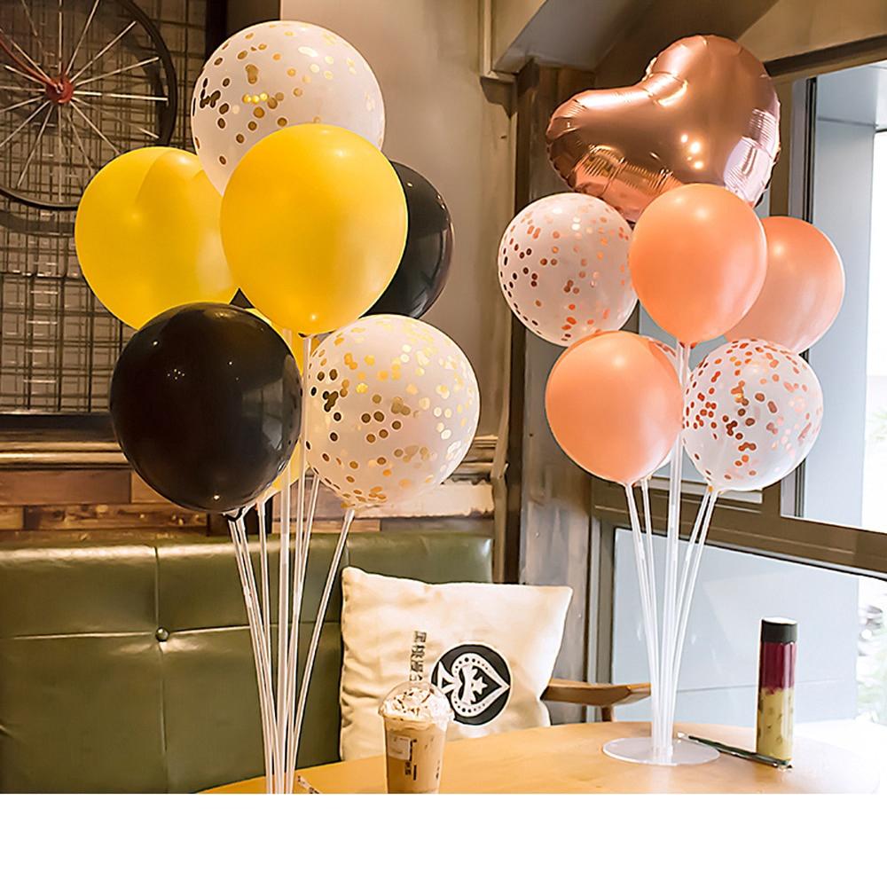 10pcs Balloon Base Arch Column Stand Display Wedding Hollowed Flower Shape