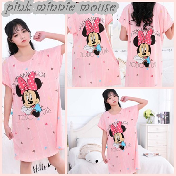 #Baju Tidur Sleepwear Cute Cartoon Skirt Pajamas