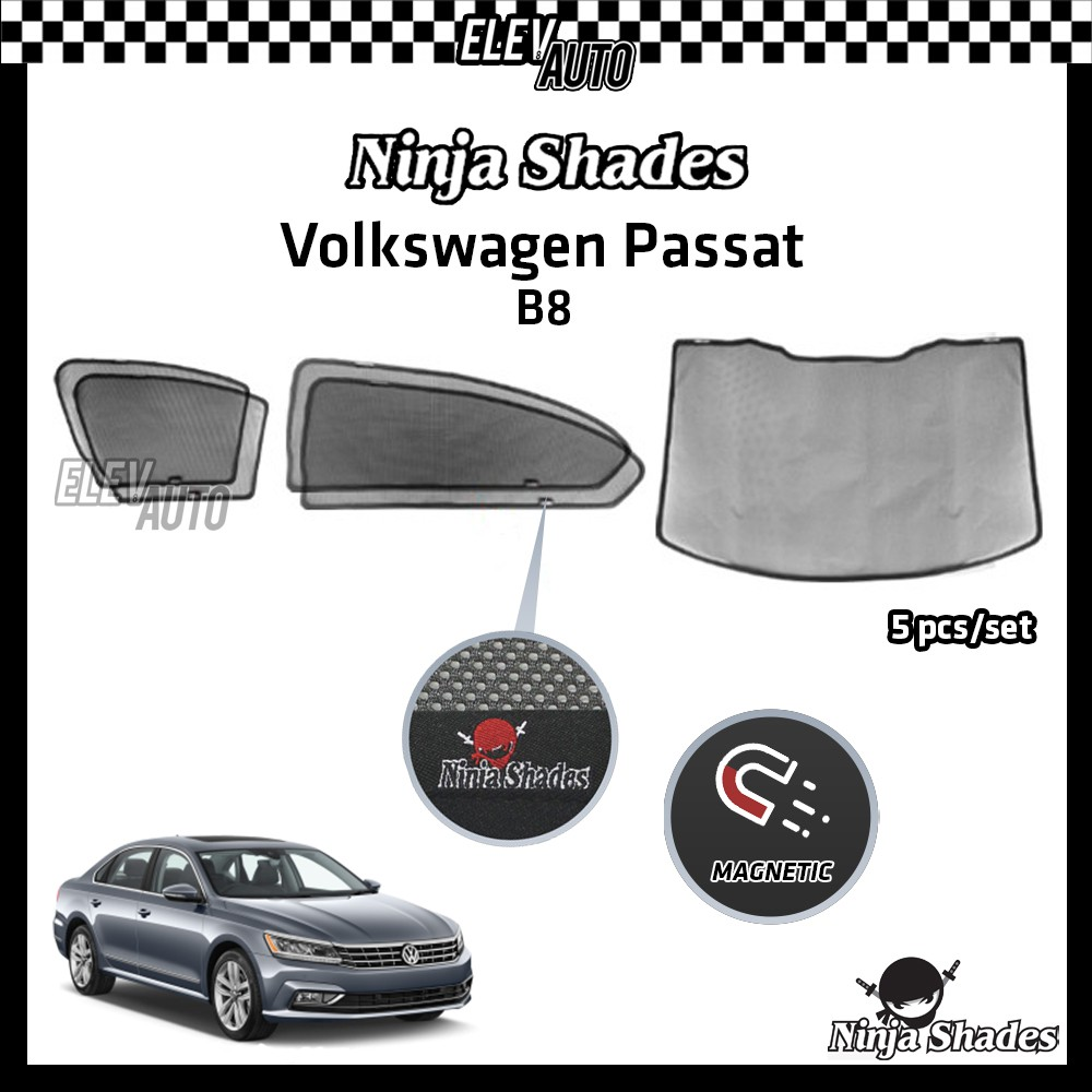 Volkswagen Passat B8 Ninja Shades OEM Magnetic Sunshade