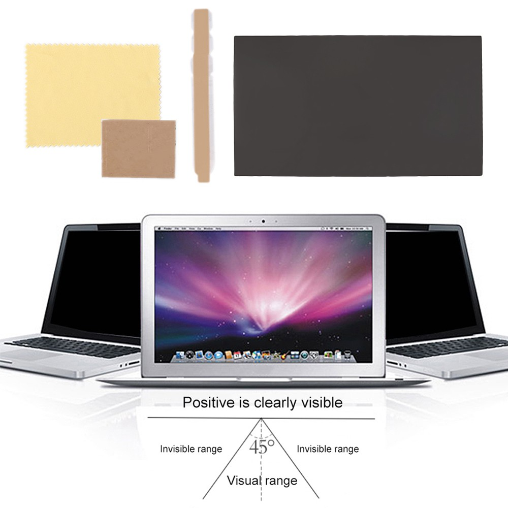 31x18cm Peep Proof Screen Protector for 14'' Widescreen Laptop LCD Monitor