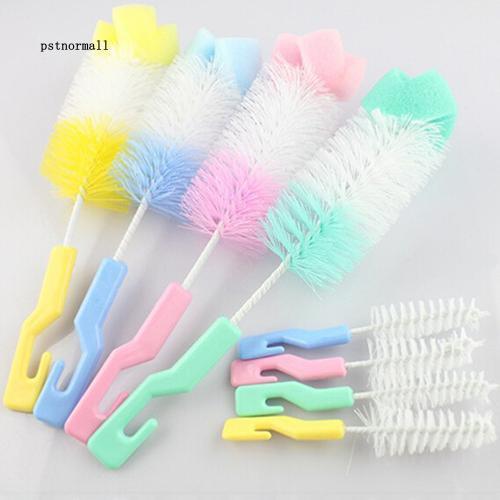 PST_Baby Nipple Brush Bottle Brush 360 Degree Sponge Cleaner with Pacifier  Brush