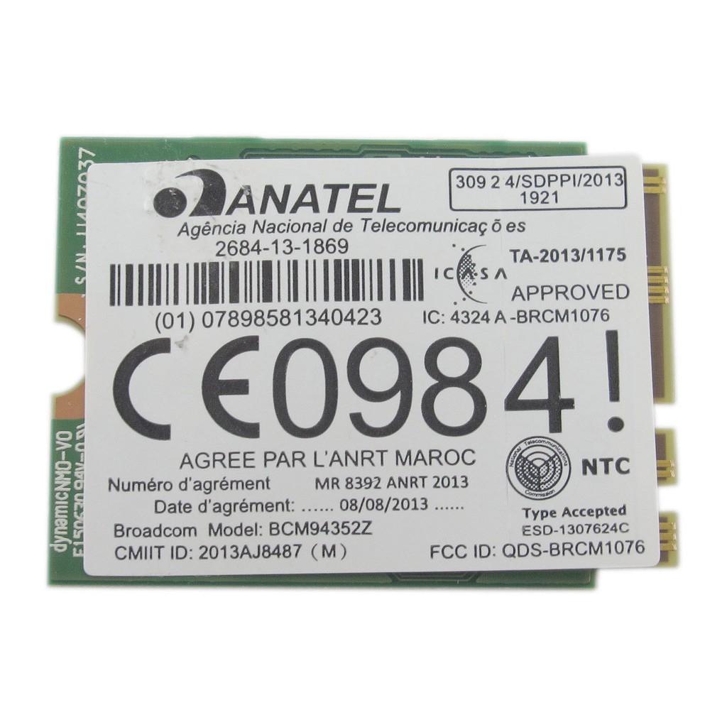 Broadcom BCM94352Z Dell DW1560 NGFF Wireless-AC 867Mbps WiFi Bluetooth 4 0  Card
