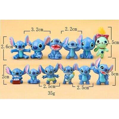 12pcs//Set Disney Lilo /& Stitch PVC dolls Anime action figure Gifts toys Cake top