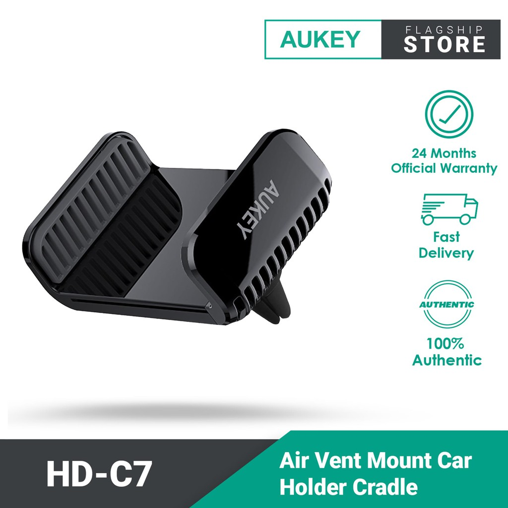 Aukey HD-C7 Air Vent Mount Car Holder Cradle For Smart Phone