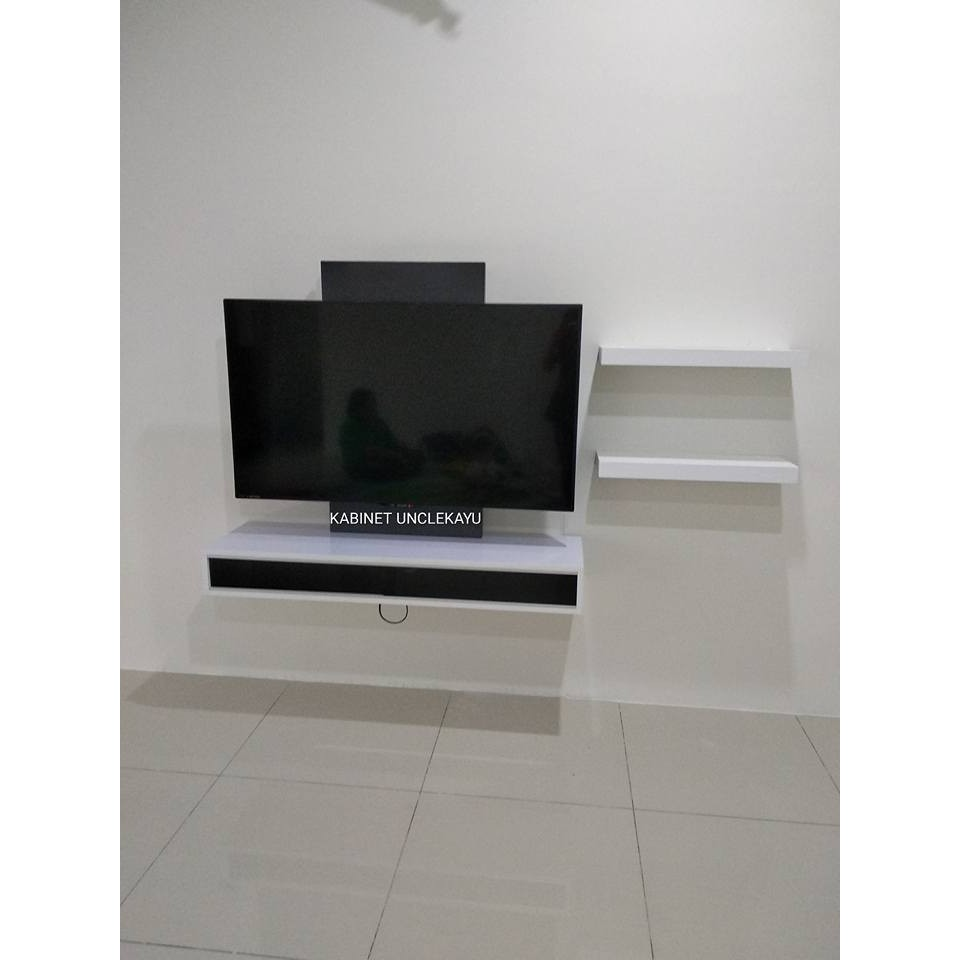 Tv Cabinet Wall Mount Modern Floating Kabinet Tv Moden Gantung Maximum 50 Inch Tv 1569324645 Shopee Malaysia